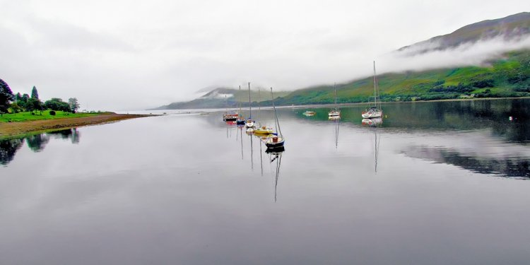 Fort William,Reflection in Harbour