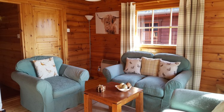 Lounge area in chalet