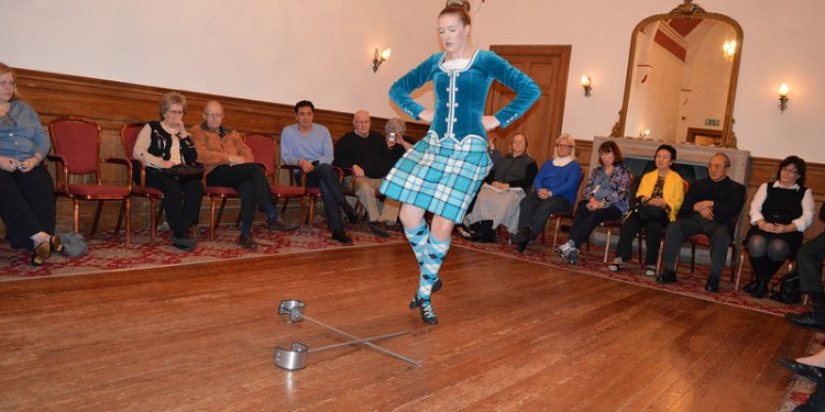 Traditional Scottish cultural dance show at The Newton Hotel and Highland Conference Centre in Nairn...