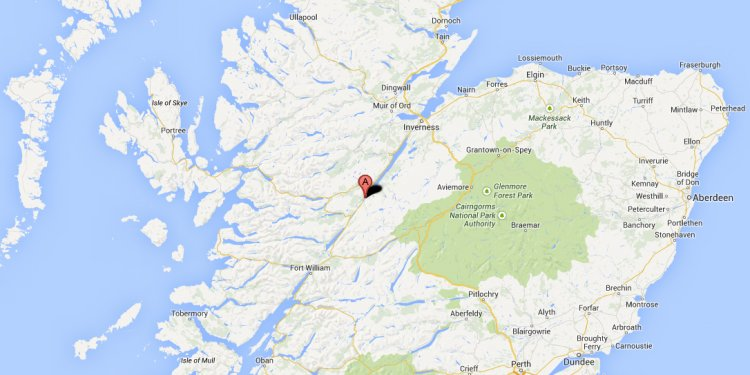Map of Fort William Highland